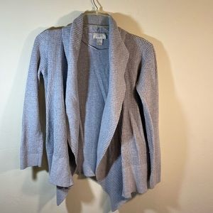 Loft Grey Sweater Open Front Size Medium